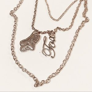 Fox Racing Three Layer Necklace Sterling Silver